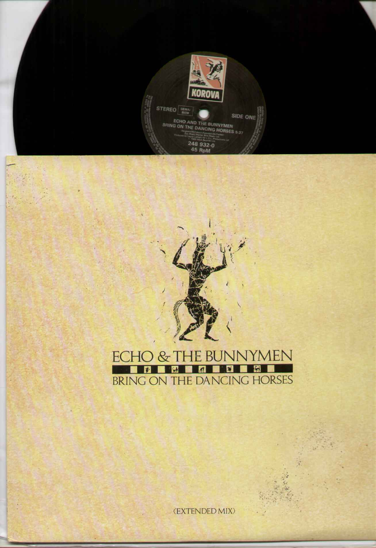 ECHO AND THE BUNNYMEN - Bring On The Dancing Horses - 12 Inch Pressed In Germany - 12 inch 45 rpm