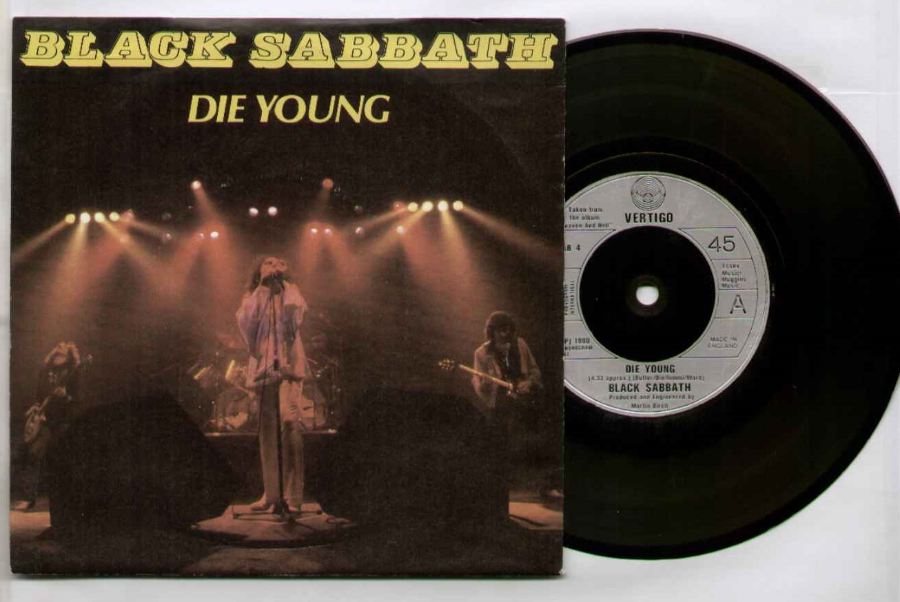 Black Sabbath Die+Young 7''
