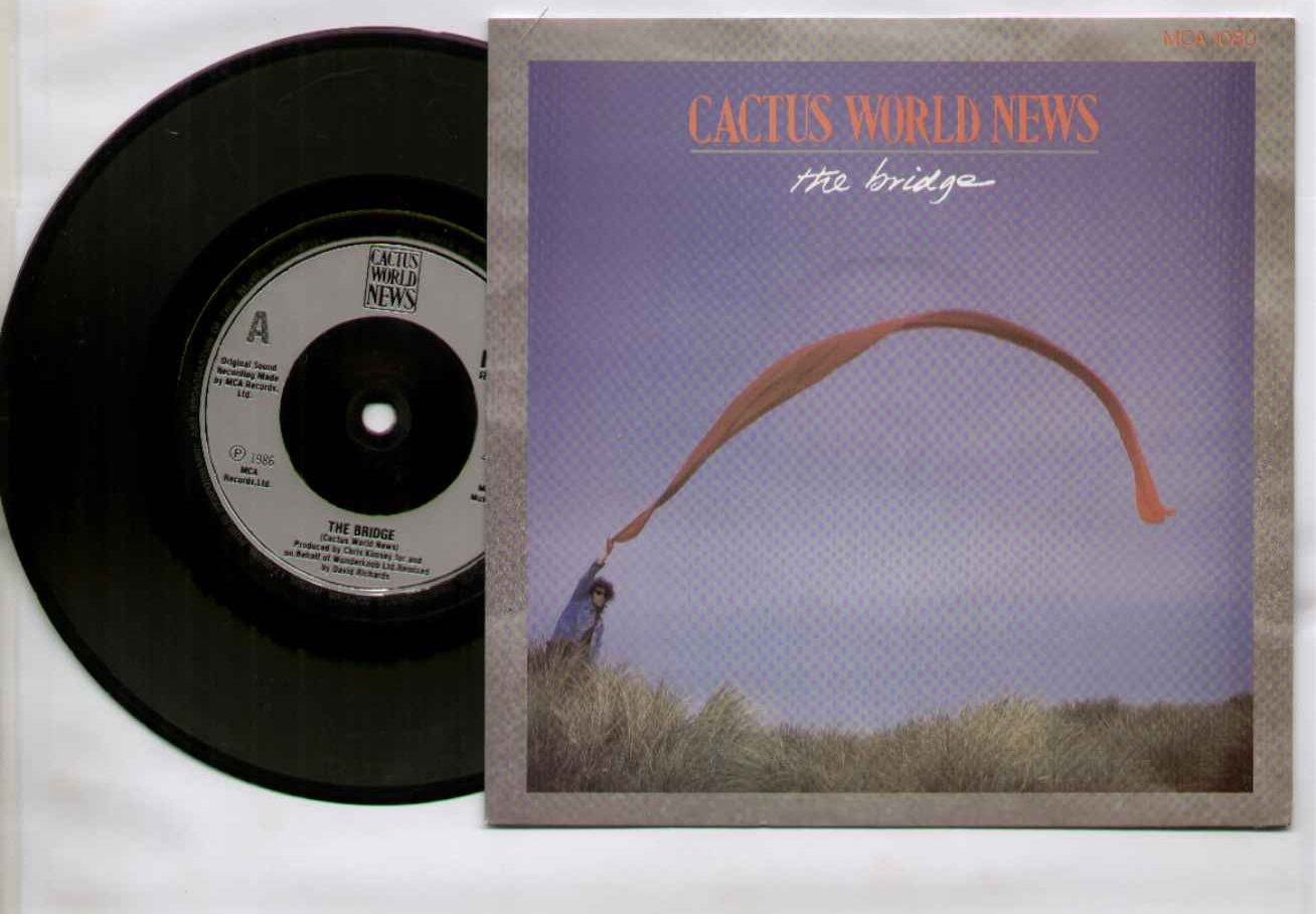 CACTUS WORLD NEWS - THE BRIDGE 1986 PICTURE SLEEVE mint unplayed b/w tables overturn - 7inch (SP)