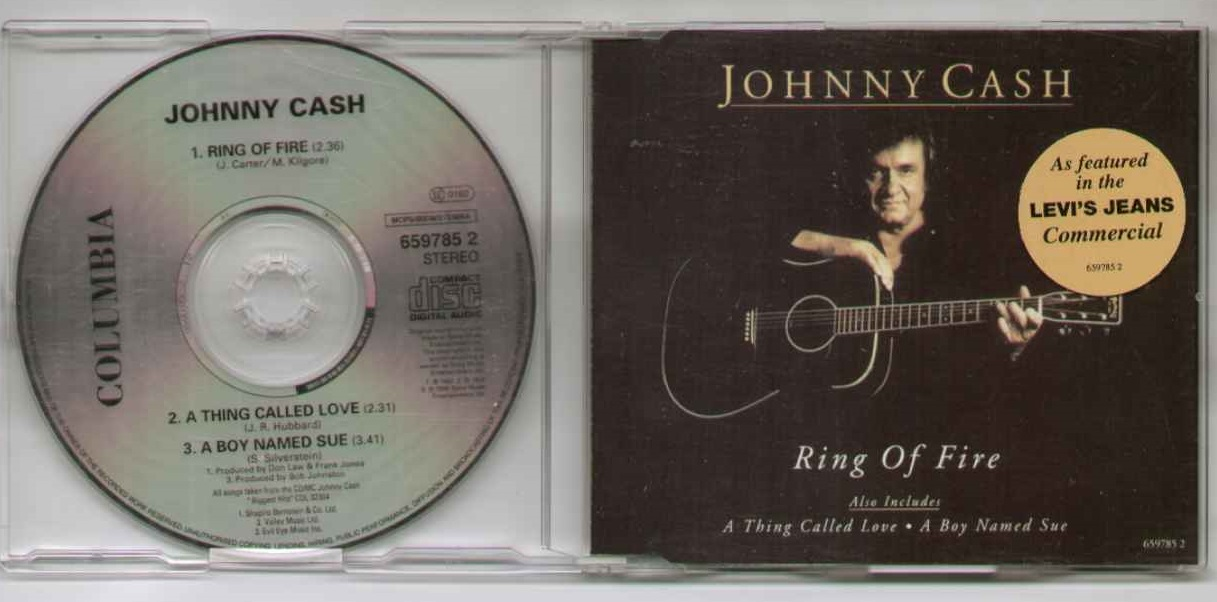 CASH Ring Of Fire 1993 3 Track With Thing Called Love Boy Named