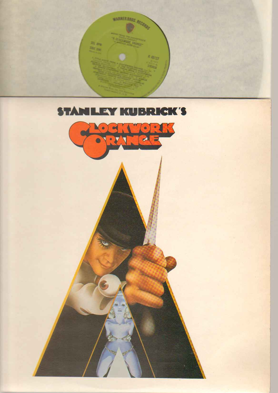 CLOCKWORK ORANGE - Clockwork Orange Soundtrack 1970's Original Green Warner Brothers Labels - Clean And In Excellent Co - LP