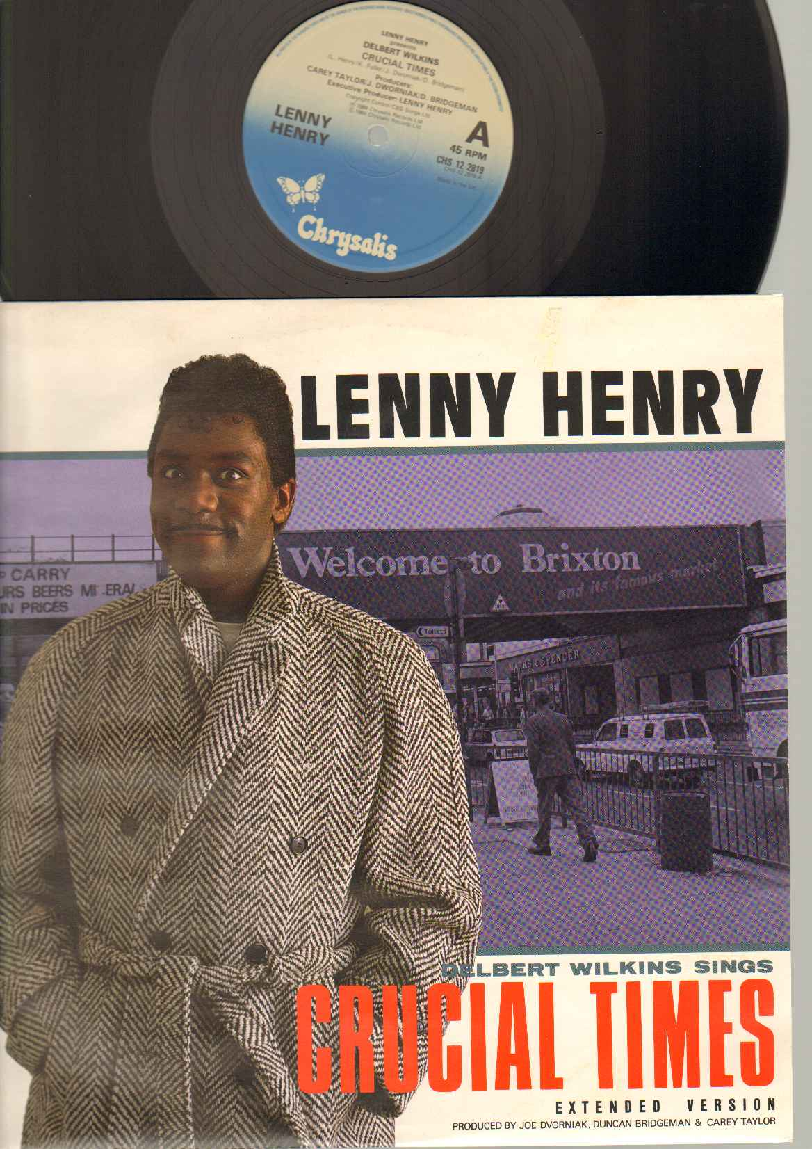LENNY HENRY PRESENTS DELBERT WATKINS - CRUCIAL TIMES - 12 inch 45 rpm