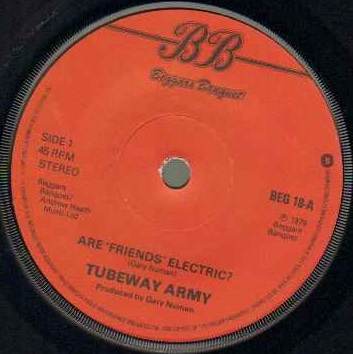 TUBEWAY ARMY - Are Friends Electric - 7inch (SP)