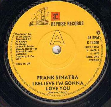 FRANK SINATRA - I Believe I'm Gonna Love You Record