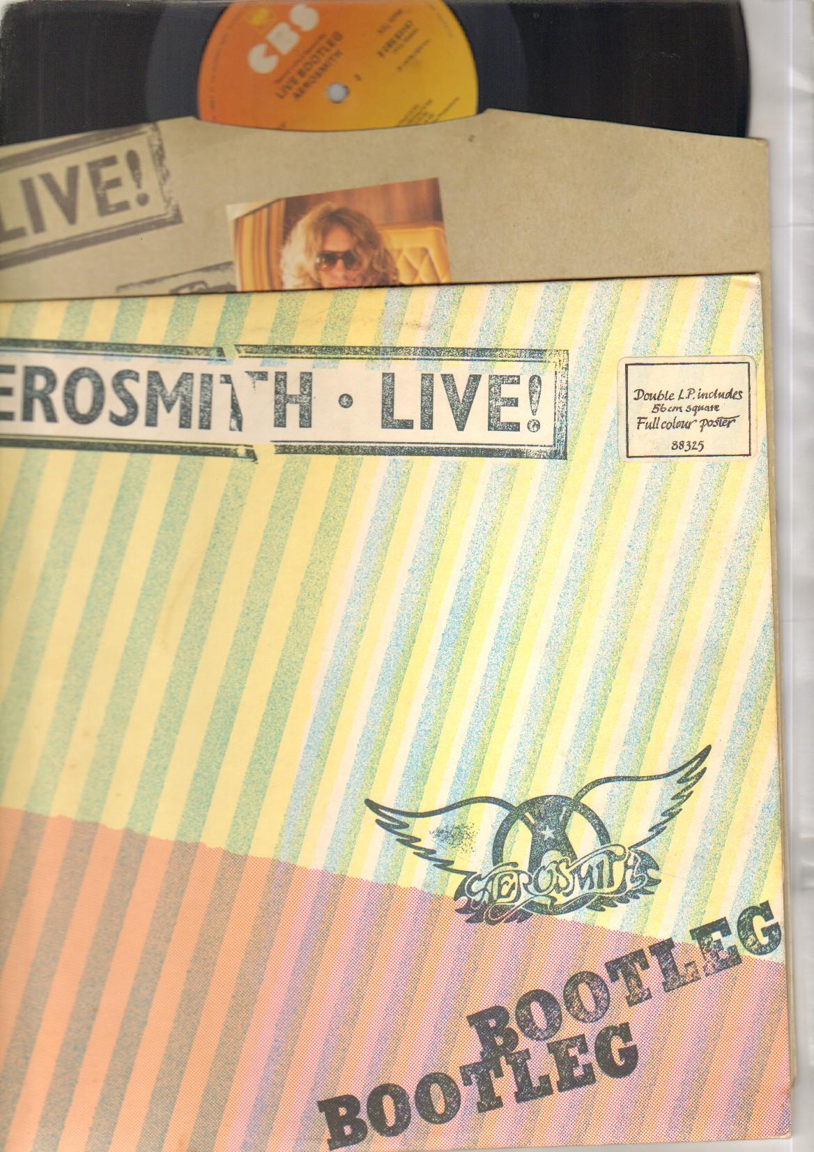 Aerosmith live bootleg album cover