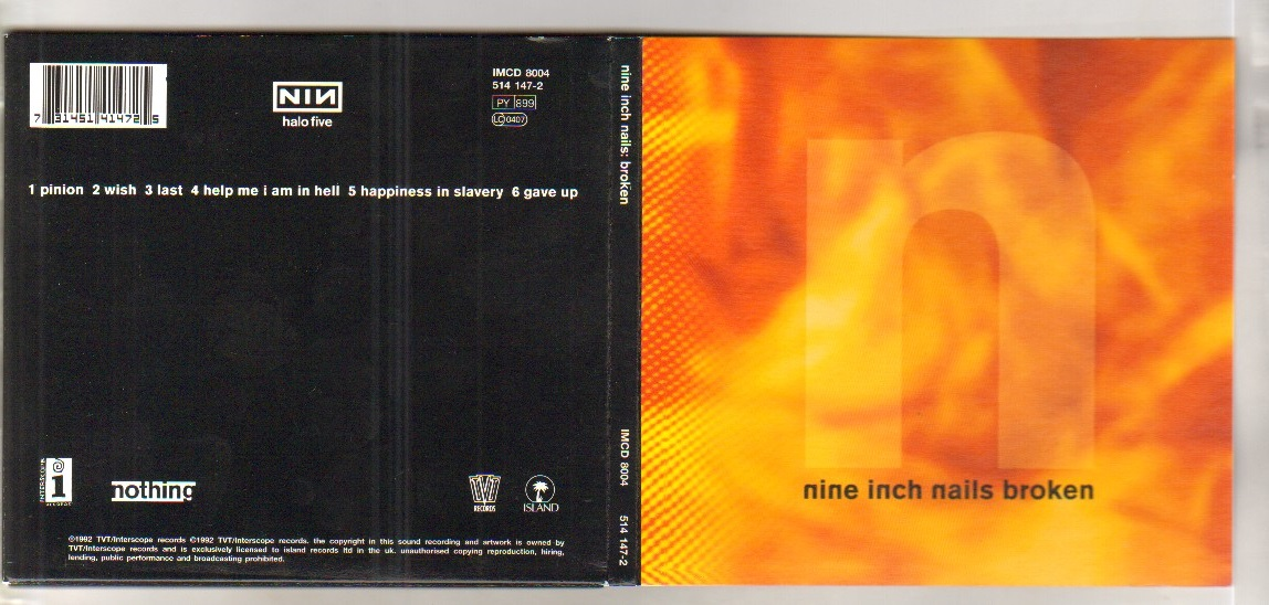 Nine Inch Nails Broken Records, LPs, Vinyl and CDs - MusicStack