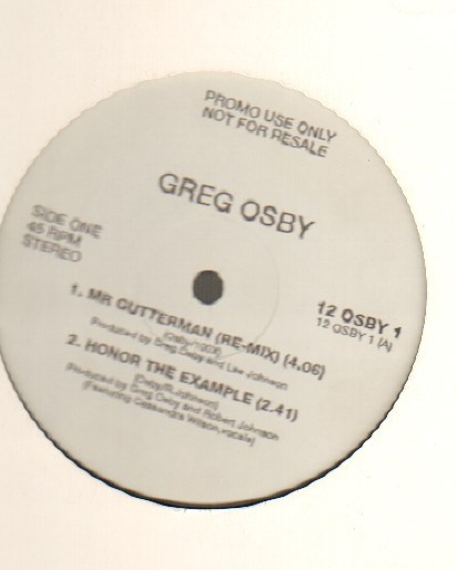 GREG OSBY - MR GUTTER MAN - Maxi 45T