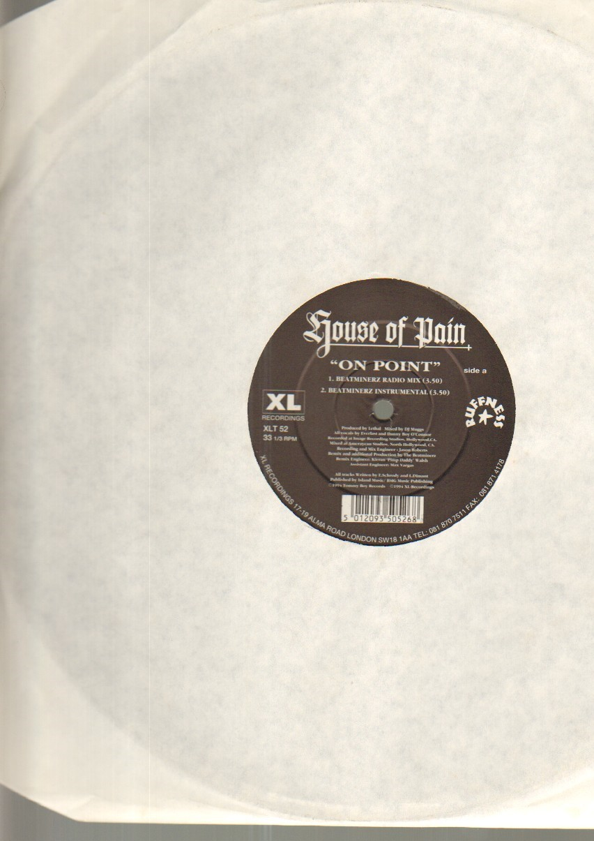 HOUSE OF PAIN - ON POINT - 4 track 12 inch - Maxi 45T