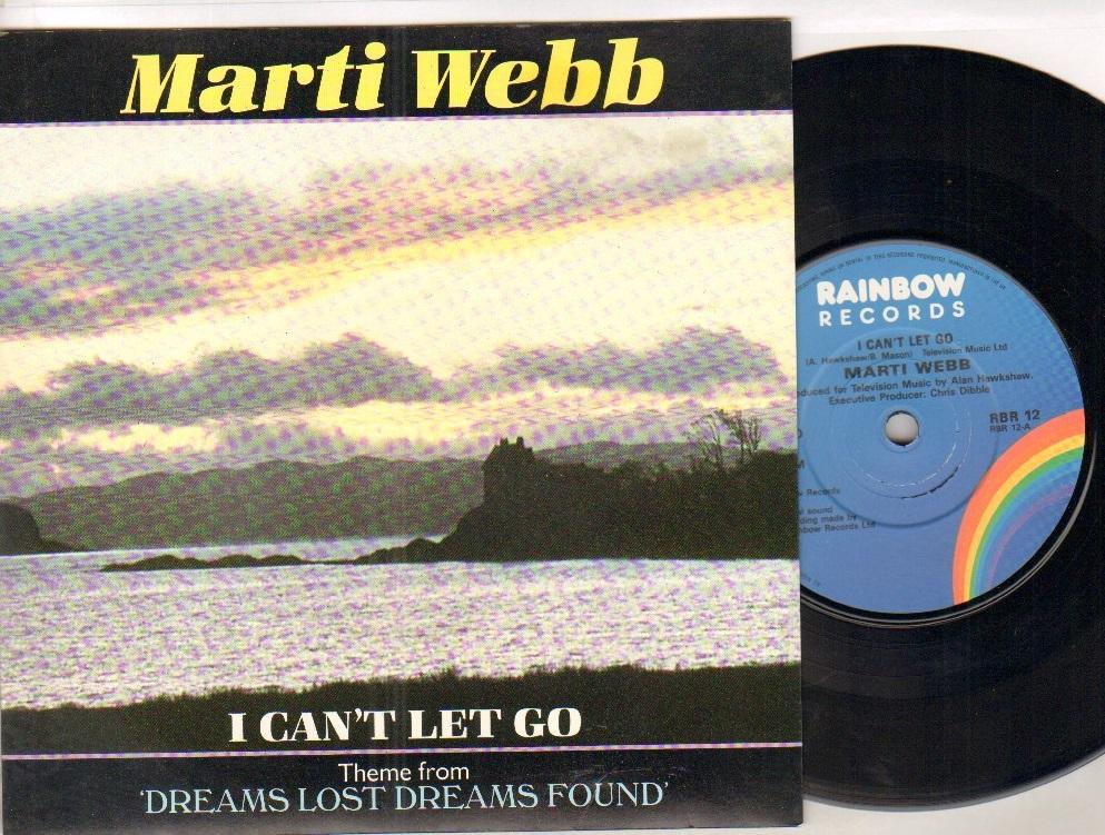 MARTI WEBB - I CAN'T LET GO - 45T (SP 2 titres)