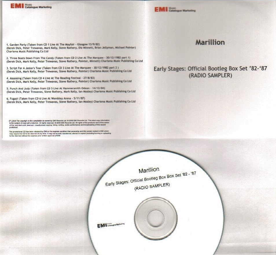 EARLY STAGES OFFICIAL BOOTLEG BOX SET RADIO SAMPLER