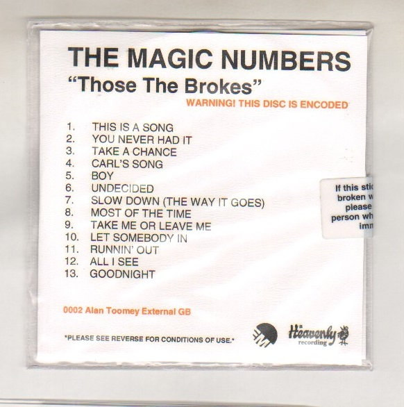 THOSE THE BROKES - cd album prmo