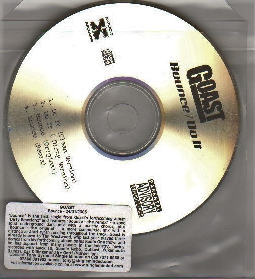 GOAST - BOUNCE / DO IT - CD