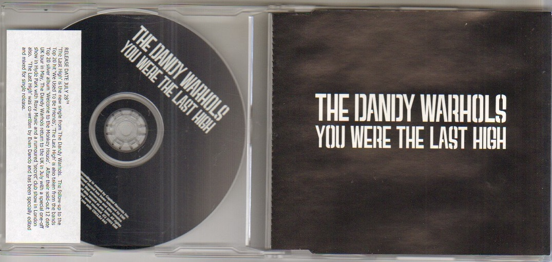 YOU WERE THE LAST HIGH - 1 track promo cd