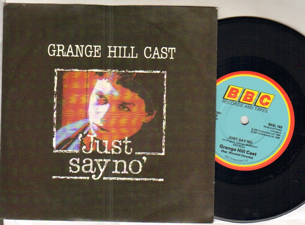 GRANGE HILL CAST - JUST SAY NO - 45T (SP 2 titres)
