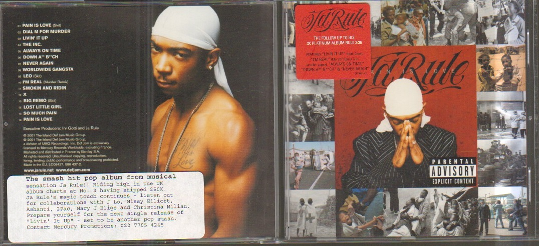 JA RULE - PAIN IS LOVE - CD album - CD