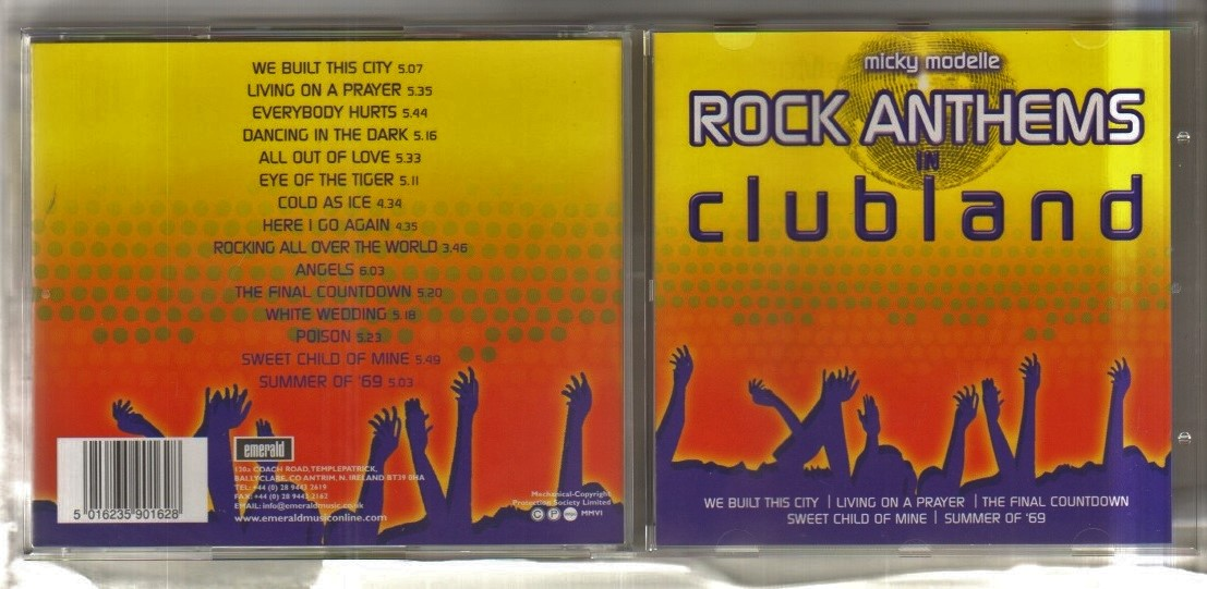 MICKY MODELLE ROCK ANTHEMS IN CLUBLAND