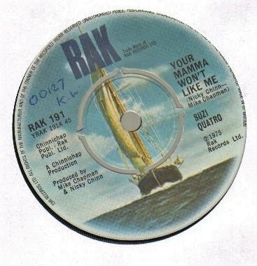 SUZI QUATRO - YOUR MAMMA WON?T LIKE ME - 1974 original - 45T (SP 2 titres)