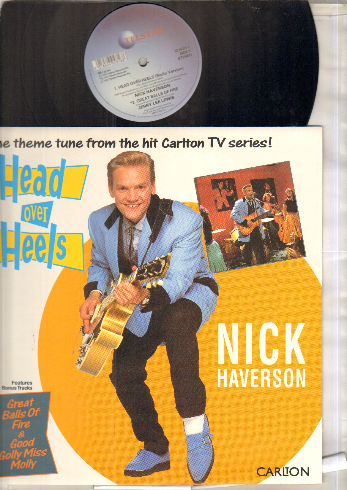 NICK HAVERSON - HEAD OVER HEELS - 12 inch 45 rpm
