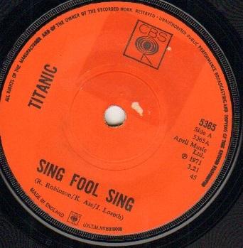 SING FOOL SING