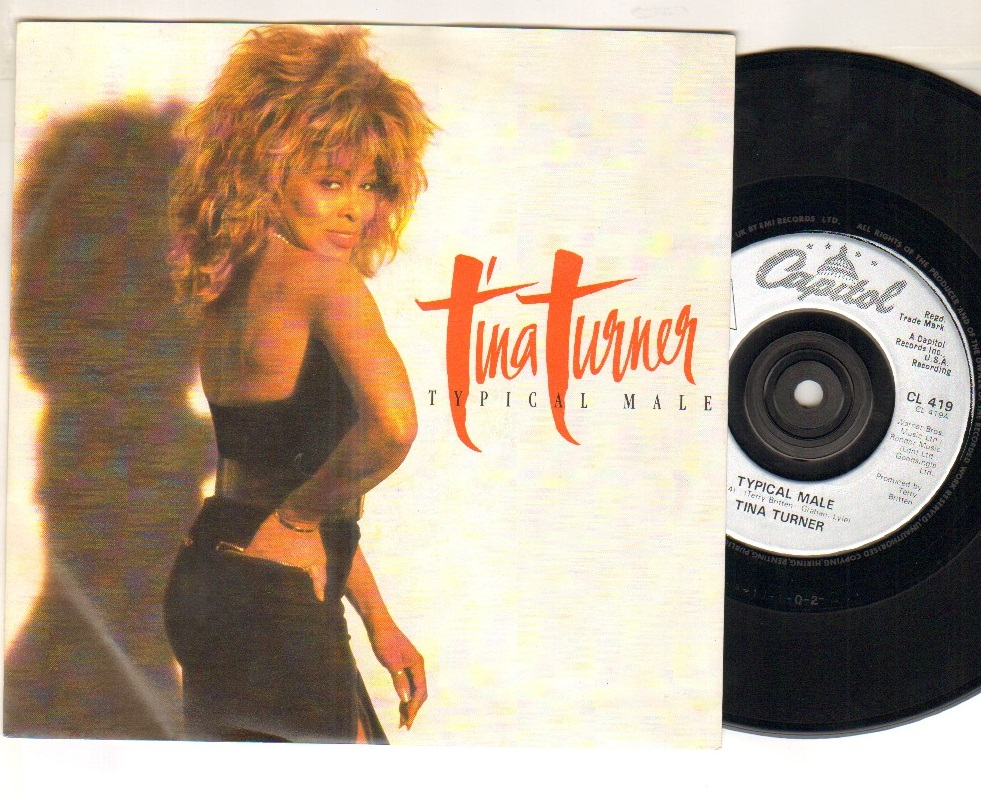 TINA TURNER - TYPICAL MALE - 45T (SP 2 titres)