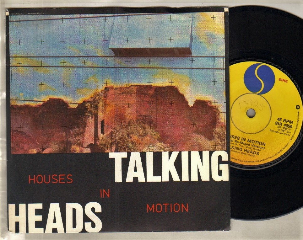 TALKING HEADS - HOUSES IN MOTION - 45T (SP 2 titres)