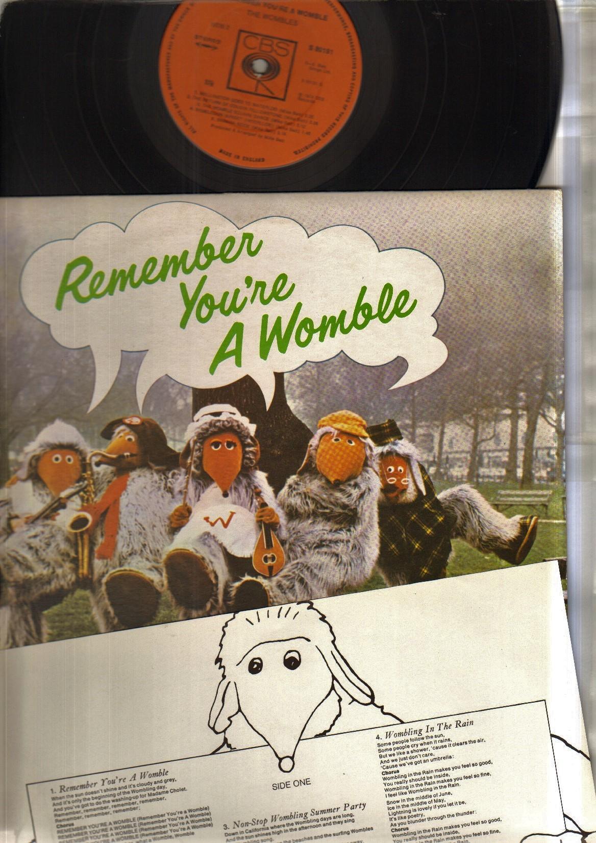 WOMBLES - REMEMBER YOU'RE A WOMBLE - LP original - 33T