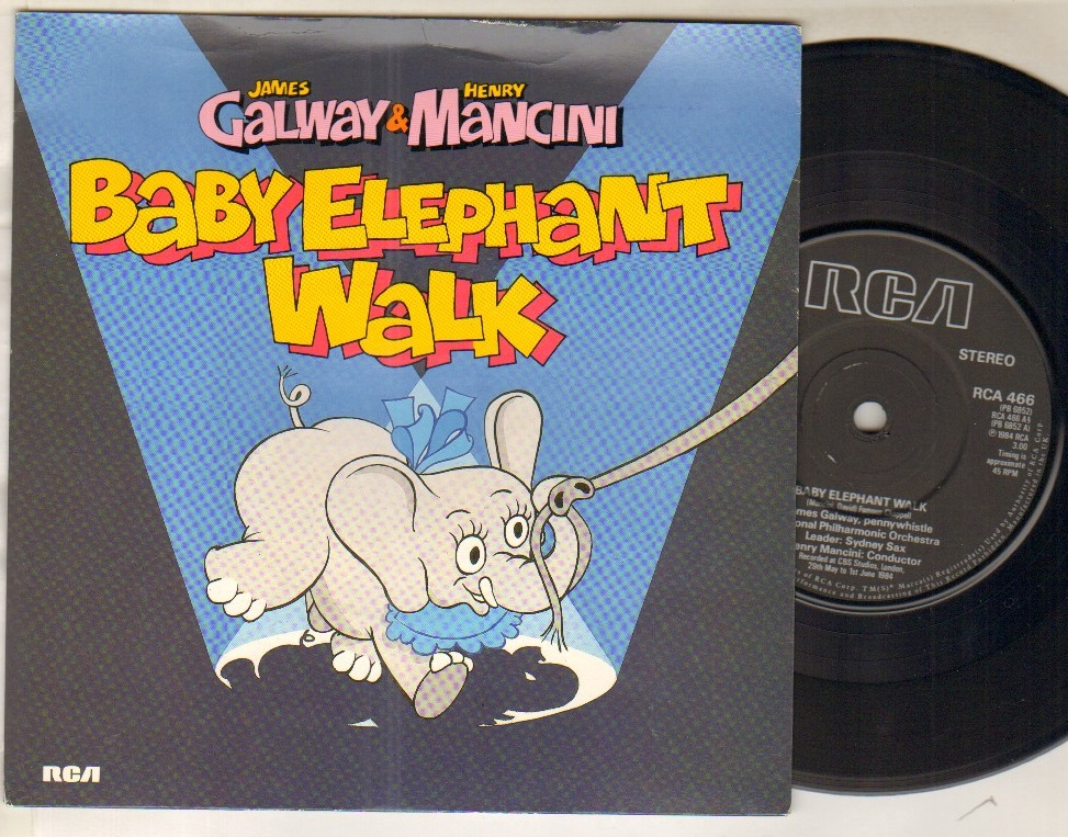 JAMES GALWAY AND HENRY MANCINI - BABY ELEPHANT WALK - 45T (SP 2 titres)