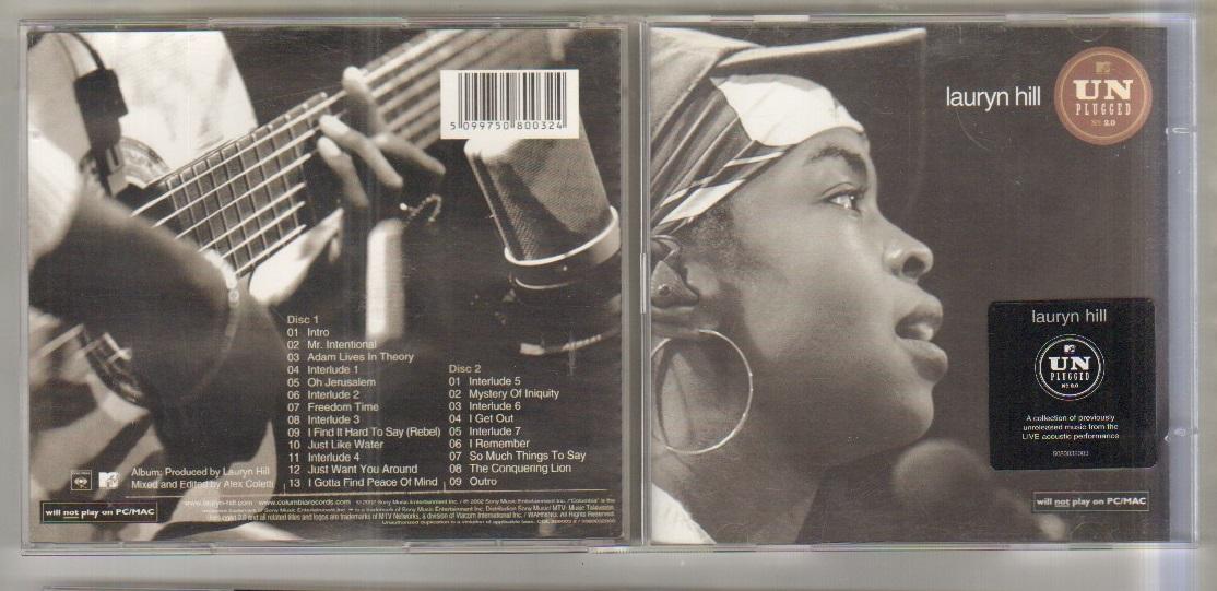 LAUREN HILL - MTV UNPLUGGED - CD