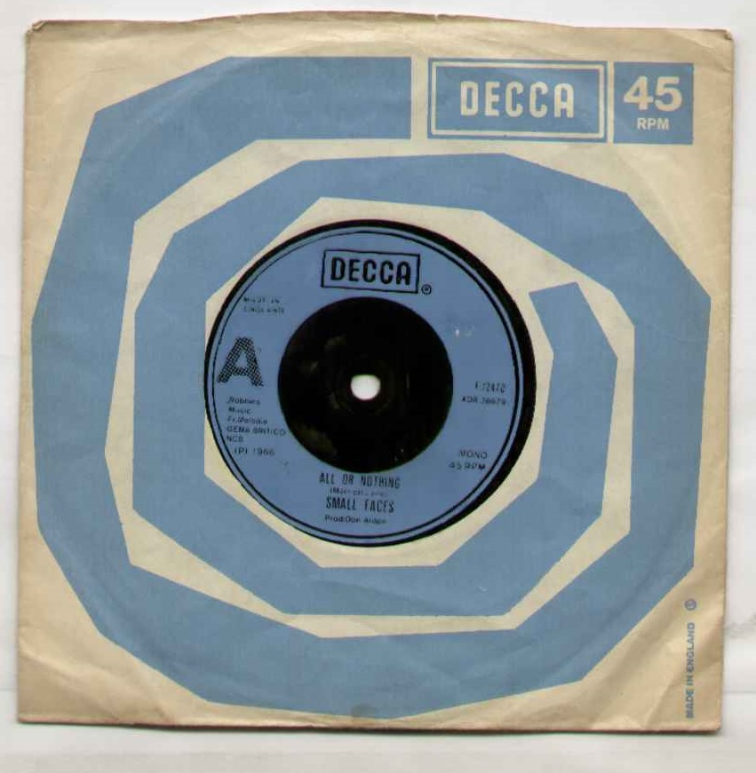 Small Faces All+Or+Nothing 7''