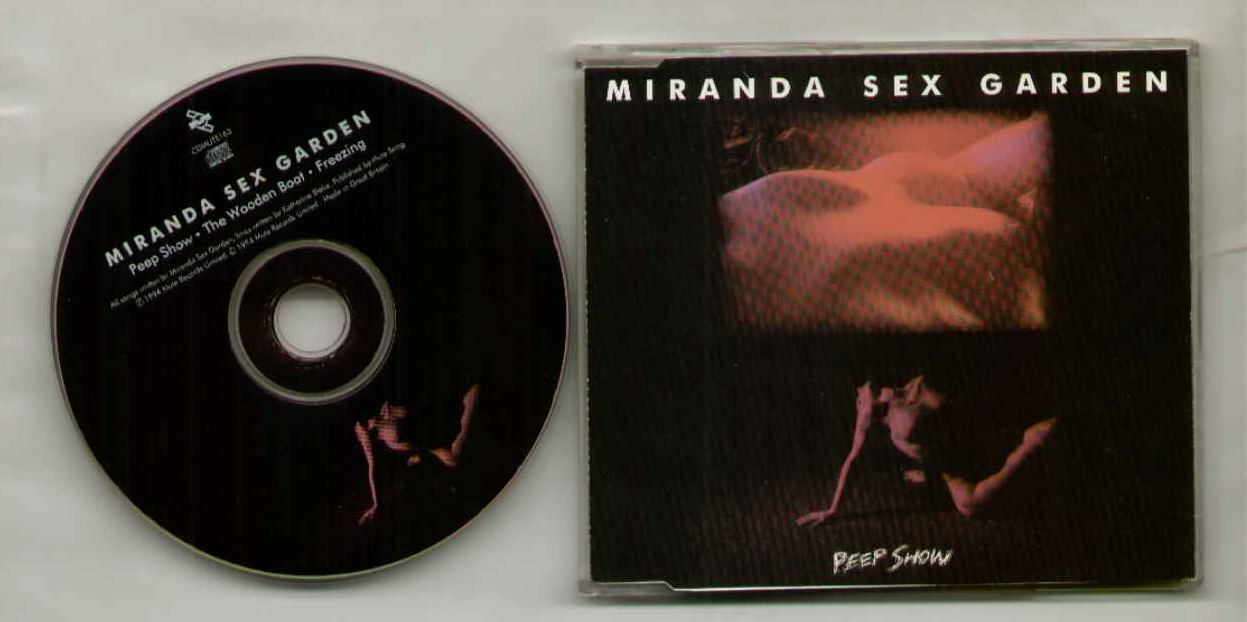 MIRANDA SEX GARDEN - Peep Show 1994 3 Track Cd Single - Near Mint Condition With Wooden Boat / Freezing - CD