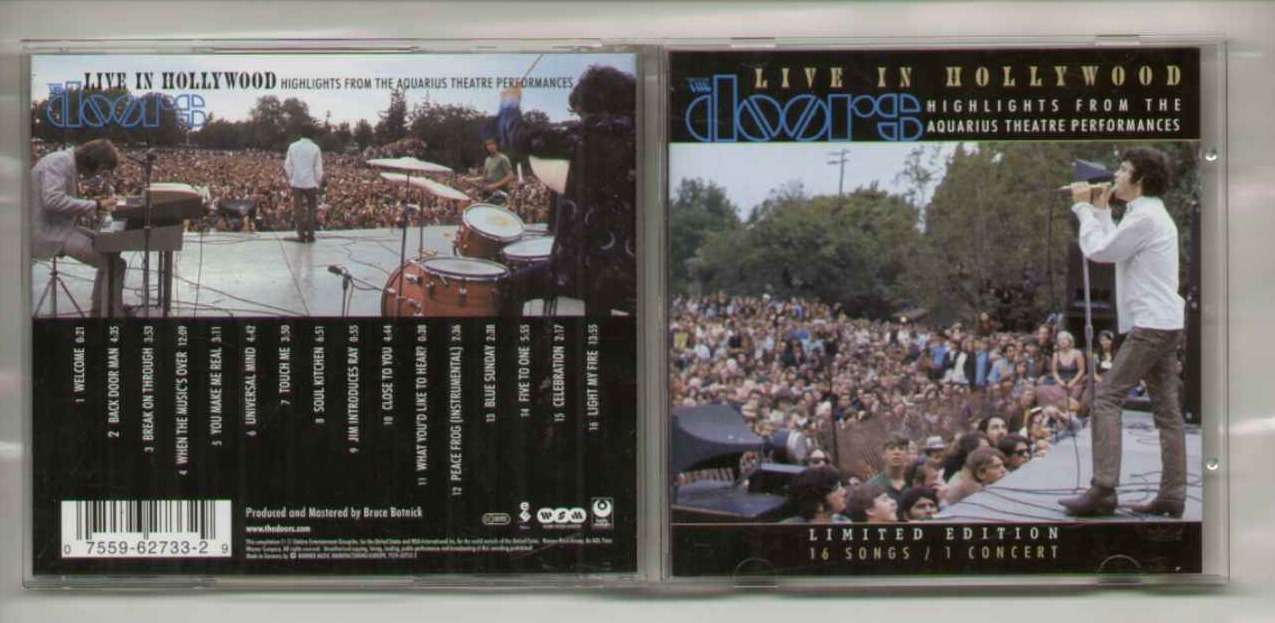 DOORS · Live In Hollywood & Doors Live In Hollywood Records LPs Vinyl and CDs - MusicStack