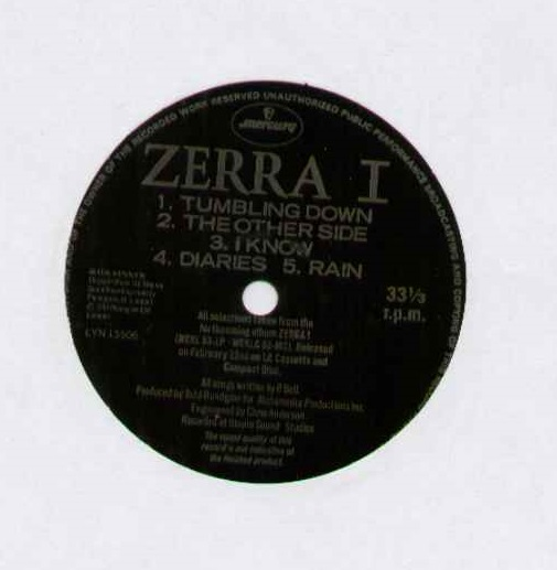 ZERRA I - TUMBLING DOWN 4 TRACK FLEXI DISC - WITH TOUR DATES SUPPORTING BOOMTOWN RATS ON DISC - EXCELLENT COND - 45T (SP 2 titres)