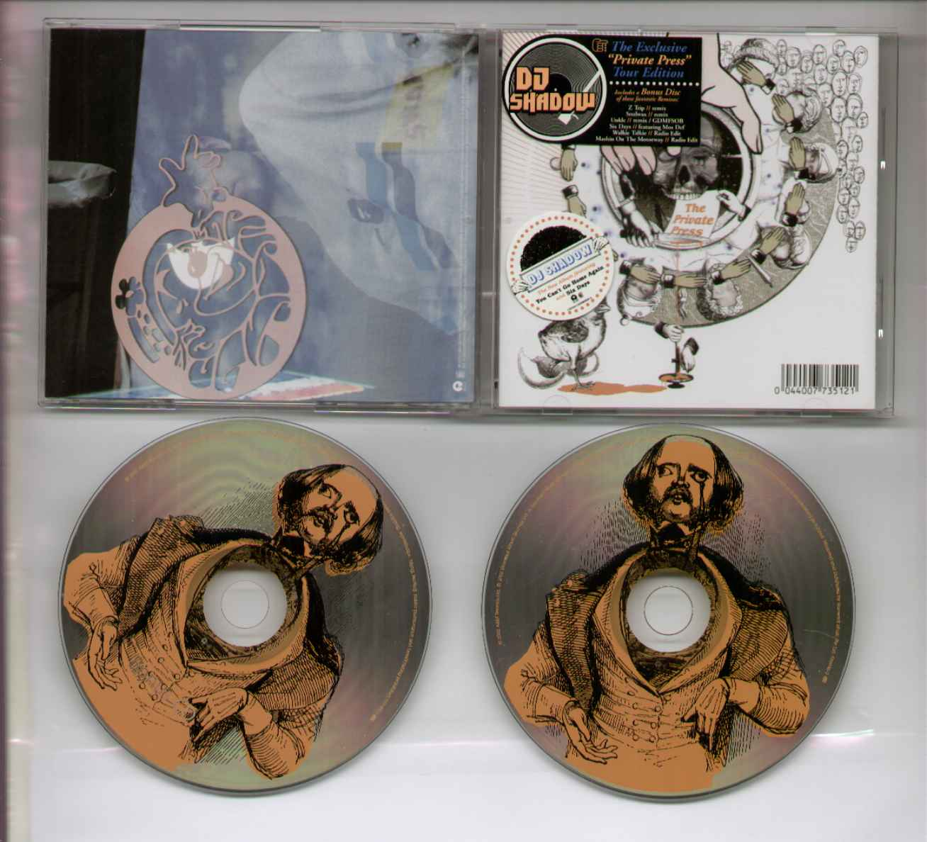 Dj Shadow Private+Press CD